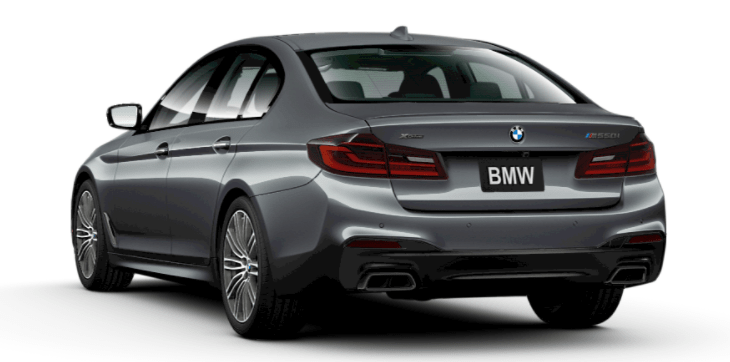 Working in tandem with Dynamic Stability Control, 2017 BMW M550i xDrive Sedan 's xDrive all-wheel drive system, monitors the road's conditions. Once it senses excess slip, it smartly sends power to the wheel with the surest footing, improving traction and delivering responsive handling.