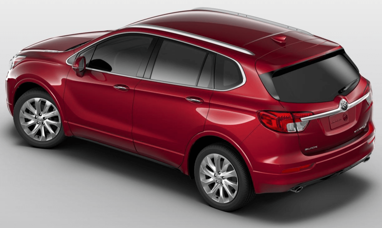 The distinct rear spoiler provides more than just good looks. Its unique shape integrates seamlessly into the exterior design to elevate 2017 Buick Envision Essence FWD 's aerodynamic form and function.