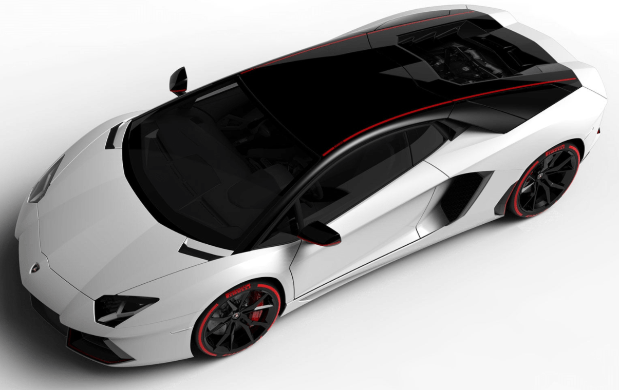 The success of the 2017 Lamborghini Aventador Pirelli meets Pirelli's charm. The new Aventador Pirelli, available in the Coupé and Roadster versions, offers all the technical features that have made the Aventador so successfull at the global level, including the carbon fiber monocoque, the 12-cylinder engine, pushrod suspension, and the permanent all-wheel-drive.