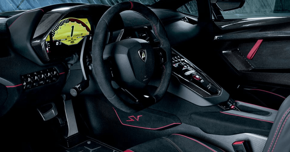 The groundbreaking innovations we introduced with the Aventador marked the beginning of a new era for super sports cars. With the 2017 Lamborghini Aventador SV Coupé we have completely redefined the concept.The Superveloce has been designed as the sportiest Lamborghini ever, thanks to a further improved naturally aspirated V12 engine, engineering solutions geared to extreme lightness, and a mix of innovative technological features, such as the magnetorheological push-rod suspension and the Lamborghini Dynamic Steering system.