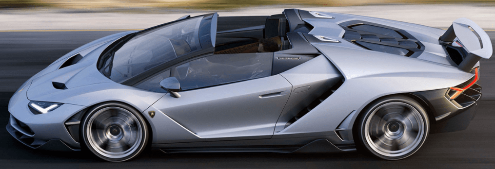 The 2017 Lamborghini Centenario Roadster adopts Lamborghini new rear wheel steering. This system increases turning agility at low speed while increasing stability at high speed.